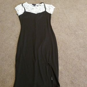 Material girl white and black lace dress